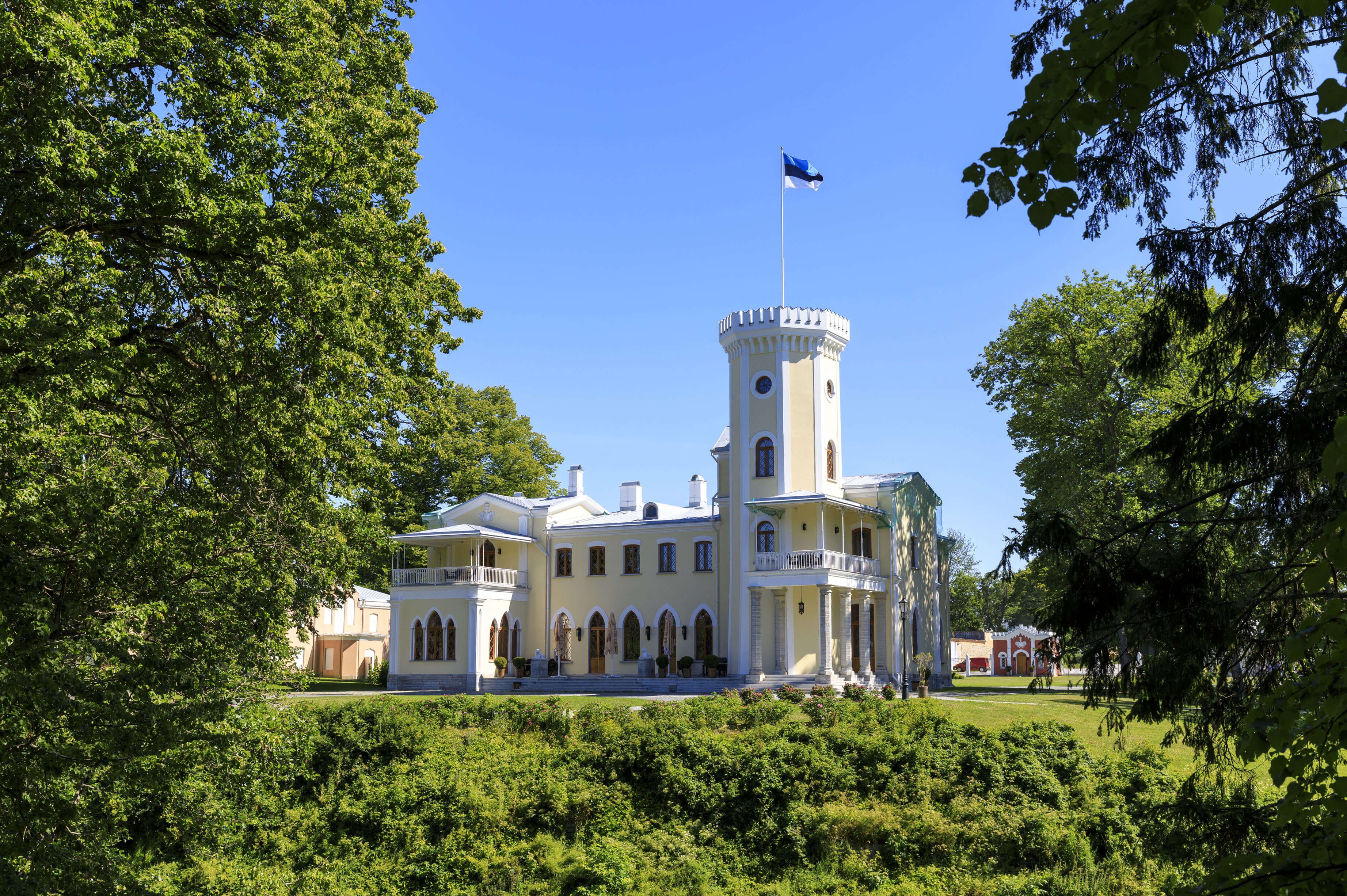 Castle or manor of Keila Joa in Estonia